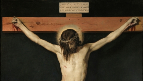 Portion of 'Christ Crucified', by Diego Velasquez, 1632.